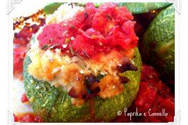 Zucchine tonde ripiene di Paprika e Cannella