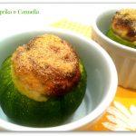 Zucchine tonde con mousse al salmone, ricetta al forno