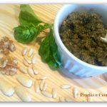 Pesto al basilico noci e mandorle, ricetta condimento
