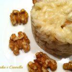 Risotto noci e gorgonzola, ricetta