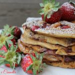 Strawberries pancakes