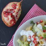Pasta broccoli e melagrana