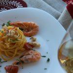 Spaghetti rana pescatrice e mazzancolle