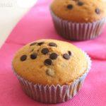 Muffin con gocce di cioccolato fondente