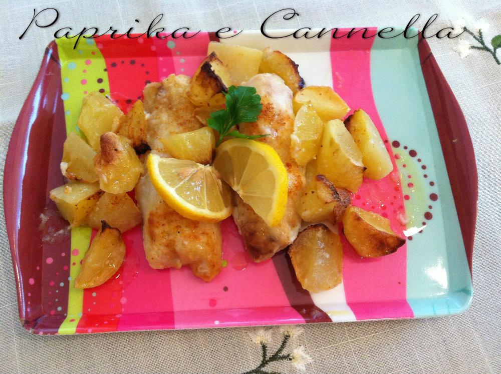 Filetti di merluzzo con patate di Paprika e Cannella