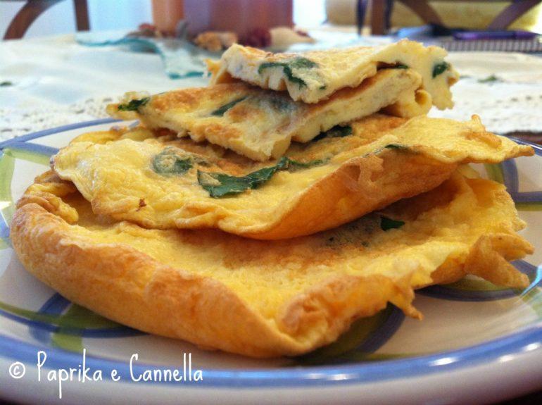 Frittata al basilico di Paprika e Cannella