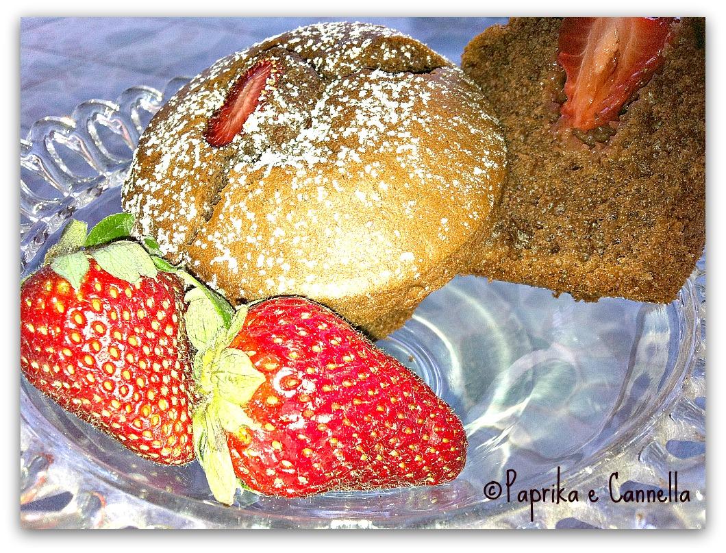 Muffin cuor di fragola al cacao per la festa della mamma di Paprika e Cannella