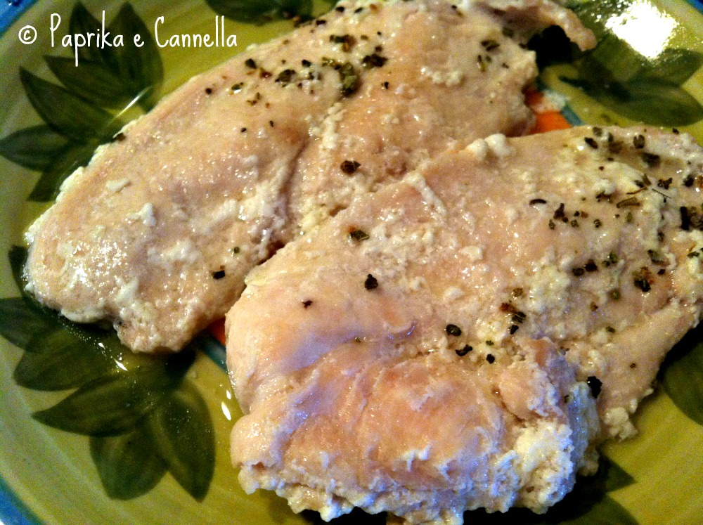Petti di pollo burro e salvia finito di Paprika e Cannella