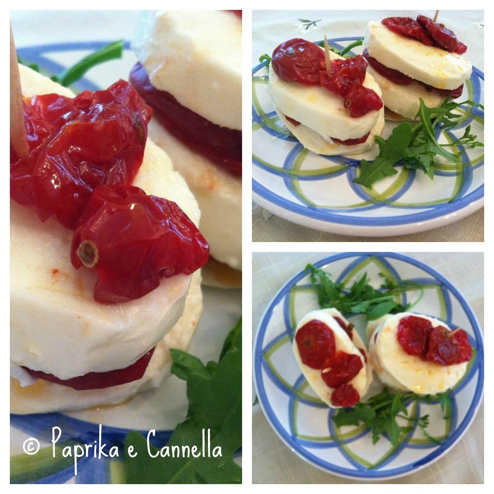 Caprese di pomodori secchi di Paprika e Cannella