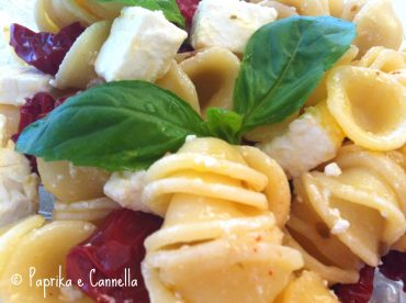 Insalata di orecchiette pomodori secchi e feta di Paprika e Cannella
