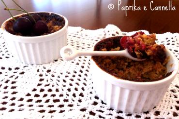 Mini crumble alle ciliegie di Paprika e Cannella