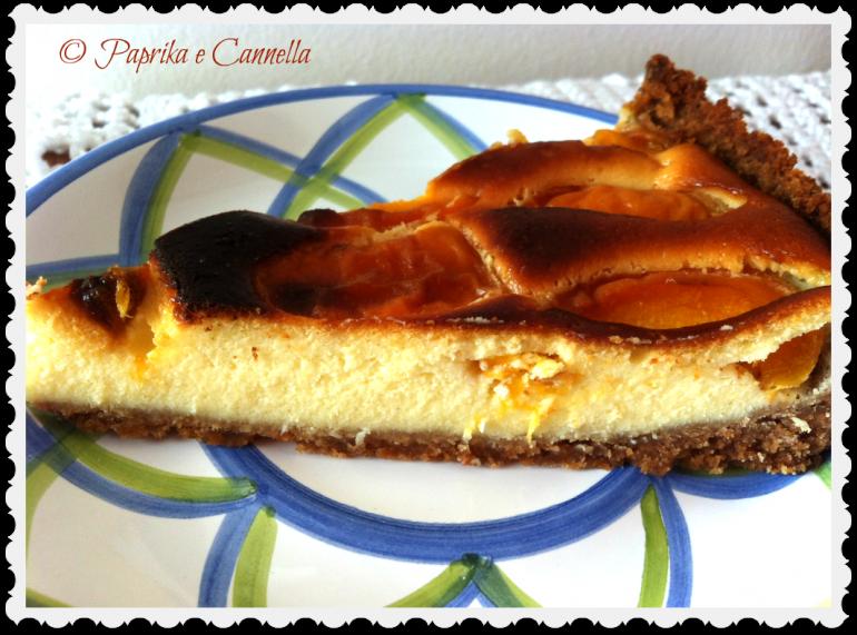 Cheesecake con albicocche di Paprika e Cannella fetta