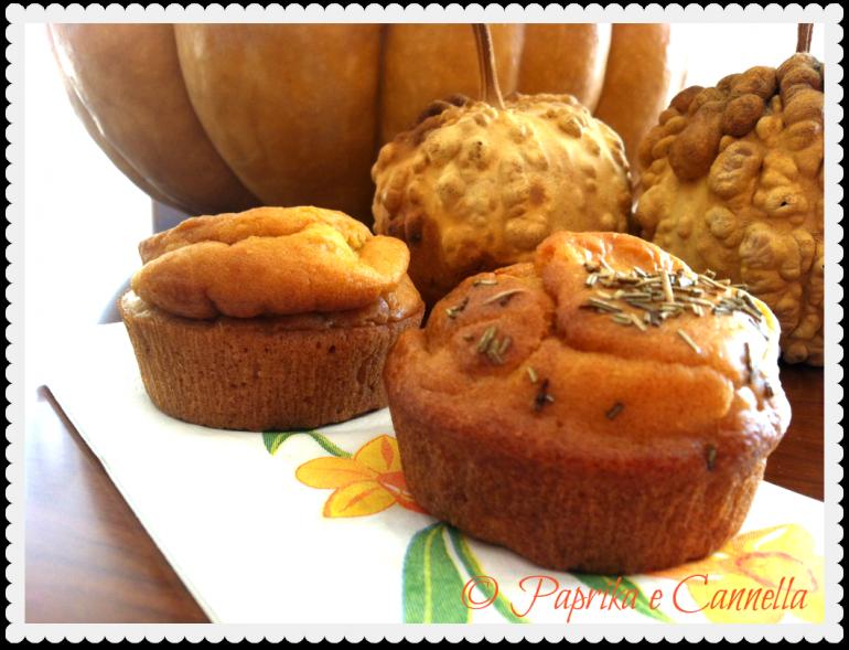 Muffin alla zucca di Paprika e Cannella