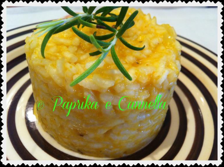 Risotto con la zucca di Paprika e Cannella