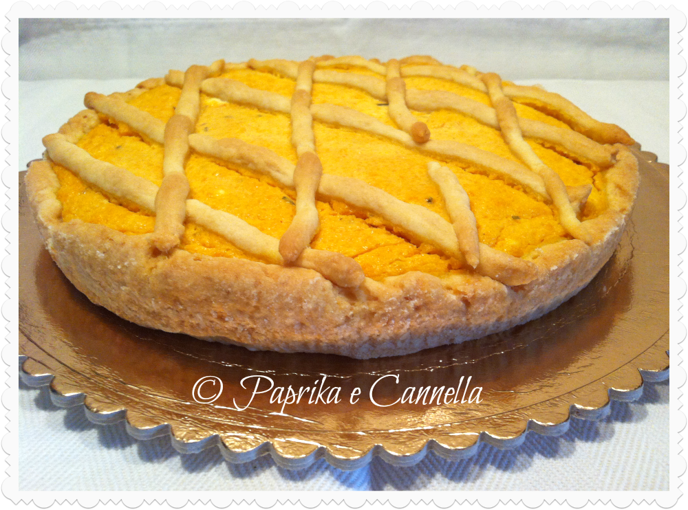 Crostata con la zucca di Paprika e Cannella