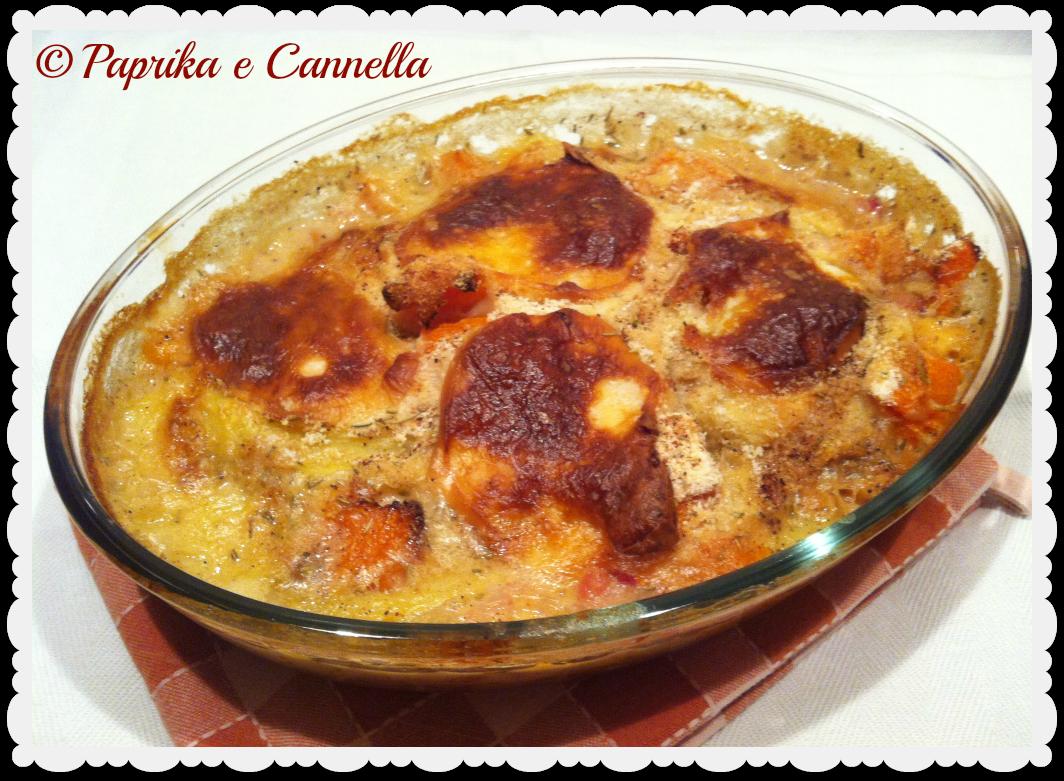 Patate e zucca affumicate,ricetta al forno