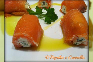 Involtini di salmone di Paprika e Cannella