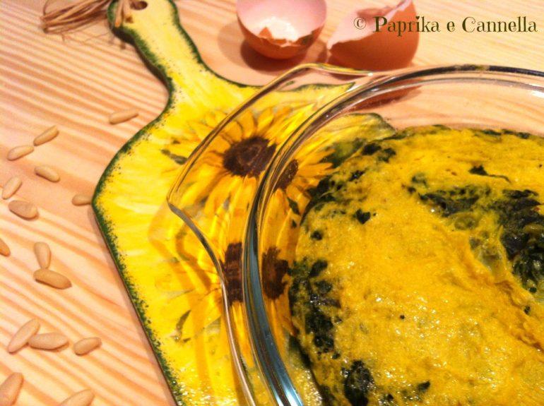 Tortino di spinaci light di Paprika e Cannella