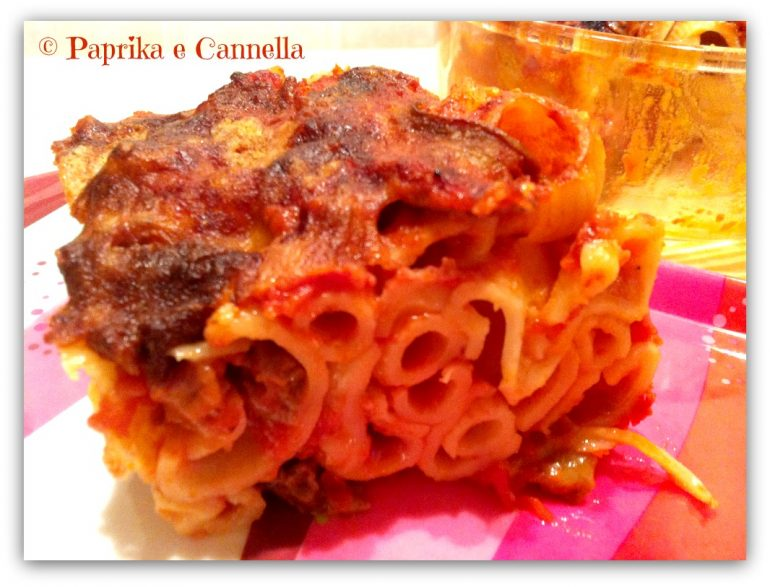Pasta al forno con funghi e salsiccia Paprika e Cannella Blog