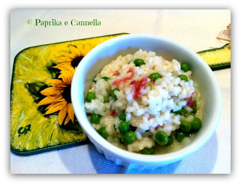 Risotto salame groviera e piselli 1 Paprika e Cannella Blog