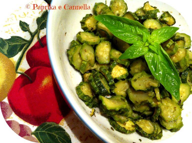 Zucchine alla menta al microonde Paprika e Cannella Blog