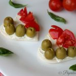 Tartine tricolore, fingerfood