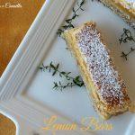 Lemon bars, barrette al limone