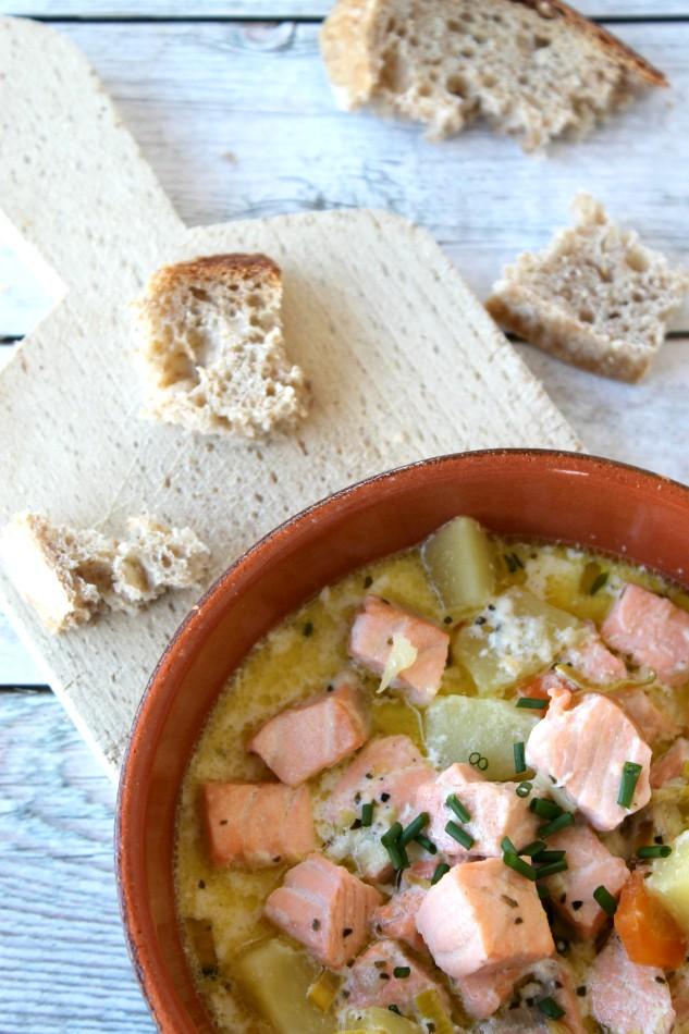 chowder salmone e patate