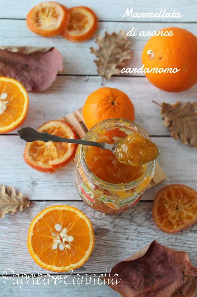 marmellata di arance con cardamomo